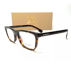Burberry Men's Dark Havana Rectangle Eyeglasses!